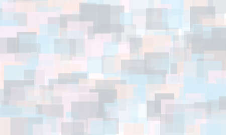 Light geometric background. Light, translucent, transparent squares with overlapping. Vector illustration. Pattern, backdrop in a modern minimalist style. Different shades of blue, pink, violet color.