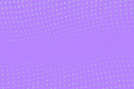 Violet wave halftone background. Digital gradient. Abstract backdrop with circles, point, dots. Dotted pattern. Futuristic panel Vector illustration