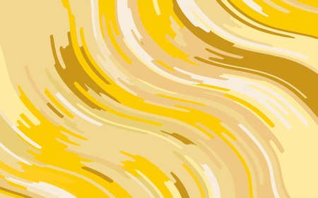 Minimal design. Abstract pattern with wave lines. Textured surface, blurred paint, stone. Yellow-gold striped background. Geometric wavy backdrop. Vector illustration