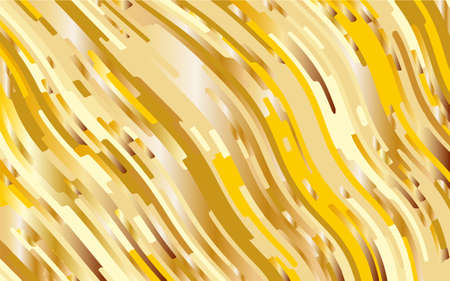 Gold texture. Yellow-golden gradient background. Minimal design. Abstract pattern with wave lines. Luxury colorful striped background. Geometric wavy backdrop. Vector illustration