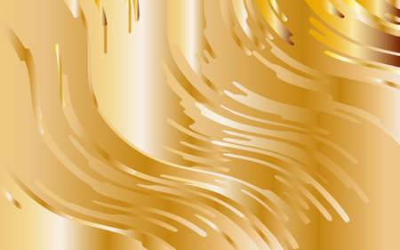 Yellow-golden gradient background. Minimal design. Gold texture. Abstract pattern with wave lines. Luxury colorful striped background. Geometric wavy backdrop. Vector illustration