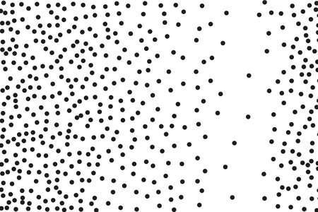 Splatter background. Black glitter blow explosion and splats on white. Grainy grunge abstract texture on a white background. Black ink blow. Random polka dot. Vector illustration Illustration