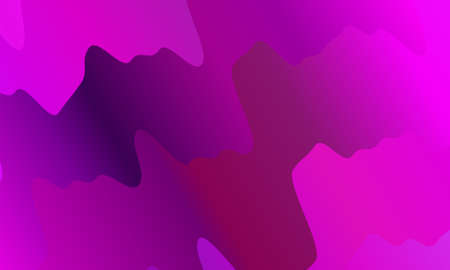 Vibrant gradient. Colorful geometric background. Wavy pattern. Fluid shapes composition. Minimal design. Vector illustration Illustration