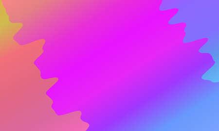 Colorful geometric background. Vibrant gradient. Wavy pattern. Fluid shapes composition. Minimal design. Vector illustration