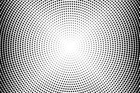 Abstract monochrome halftone pattern. Futuristic panel. Grunge dotted backdrop with circles, dots, point. Design element for web banners, posters, cards, wallpapers, sites. Black and white color