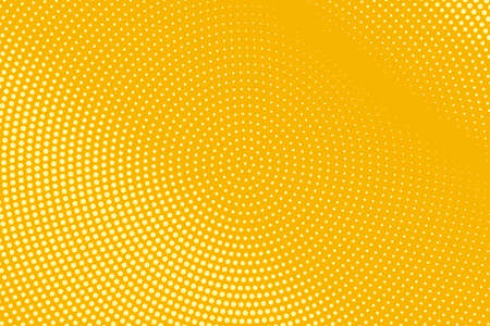 Abstract halftone pattern. Futuristic panel. Grunge dotted backdrop with circles, dots, point. Design element for web banners, posters, cards, wallpapers, sites. Yellow and orange color