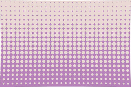 Abstract halftone pattern. Futuristic panel. Grunge dotted backdrop with circles, dots, point. Design element for web banners, posters, cards, wallpapers, sites. Pink, violet color Illustration
