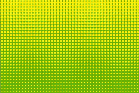 Abstract halftone pattern. Futuristic panel. Grunge dotted backdrop with circles, dots, point. Design element for web banners, posters, cards, wallpapers, sites. Green, yellow color Illustration