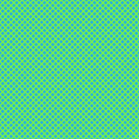 Seamless background with cell, lattice, intersecting lines. Geometric repeating pattern. Vector illustration. Bright green stripes on blue background Illustration