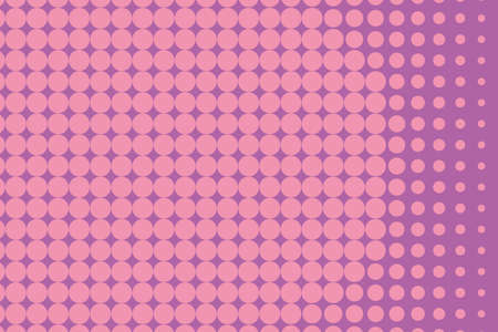 Halftone background. Digital gradient. Dotted pattern with circles, dots, point large scale. Design element for web banners, posters, cards, wallpapers, sites, panels.  Pink color