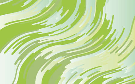 Green geometric background with wavy lines. Abstract pattern. Vector illustration