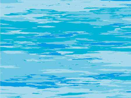The texture of the water. Abstract natural background with different shades of blue. Vector illustration Illustration