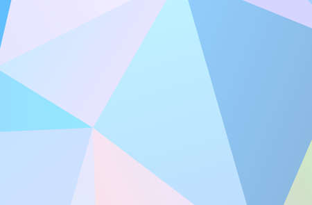 The combination of colored geometric shapes. Minimal design. Light Pink, Blue color The combination of colored geometric shapes. Minimal design. background.  Vector illustration Archivio Fotografico - 103786552