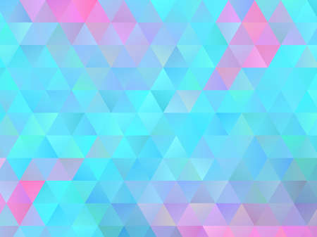 Colorful triangular background. Pattern with many triangles of different colors and shades. Vector illustration for banners, brochures, covers, printing on paper Illustration