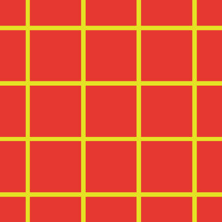 Pattern in cell, grid. Seamless background. Bright orange and yellow. For printing on fabric, paper, wrapper. Vector illustration