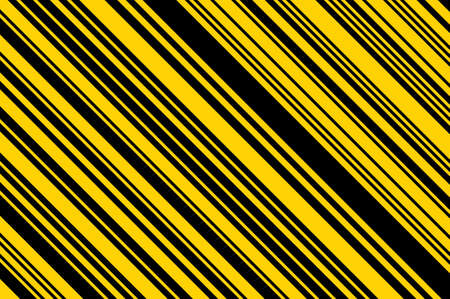 Yellow and black striped background. Bright pattern with lines. Vector illustration.