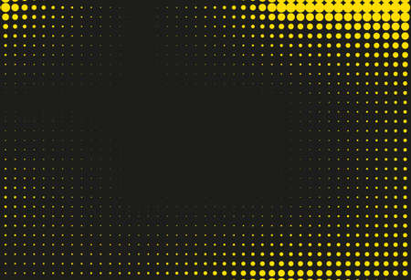 Black and yellow halftone background. Vector illustration Ilustrace