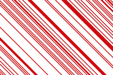 Christmas candle, lollipop pattern. Striped diagonal background with slanted lines. Stripy backdrop for print on wrapping. Vector illustration