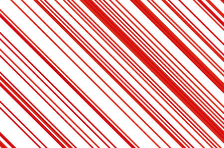 Christmas candle, lollipop pattern. Striped diagonal background with slanted lines. Stripy backdrop for print on wrapping. Vector illustration Vector Illustration