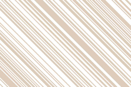 Elegant beige pattern with diagonal stripes. Simple, light geometric background. Vector illustration, rectangular, horizontal.