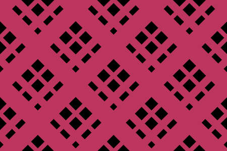 Traditional seamless pattern with slanted, diagonal lines, stripes. Black and pink. Vector illustration. Vector Illustration