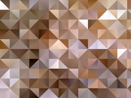 Abstract pattern with triangles. Geometric background. Different shades of Golden and beige with gradient. Vector illustration.