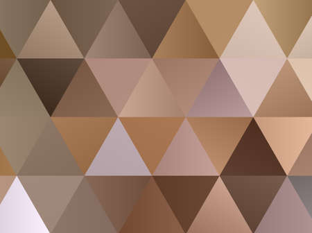 Abstract pattern with triangles. Geometric background. Different shades of Golden and beige with gradient. Vector illustration. Vectores