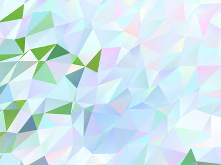 Light green triangle mosaic template. Modern abstract illustration with triangles. Triangular pattern for your design Vector illustration 向量圖像