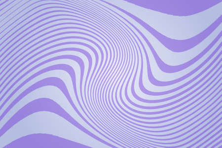 Abstract pattern.  Texture with wavy, curves lines. Optical art background. Wave design purple, violet color. Digital image with a psychedelic stripes. Vector illustration Ilustracja