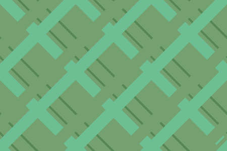 Geometric seamless pattern with intersecting lines, grids, cells. Criss-cross background in traditional tile style. For printing on fabric, paper, wrapping, scrapbooking, banners Vector illustration Illustration