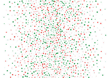 Festival pattern with color round glitter, confetti. Random, chaotic polka dot. Bright background  for party invites, wedding, cards, phone Wallpapers Vector illustration Christmas color red and green