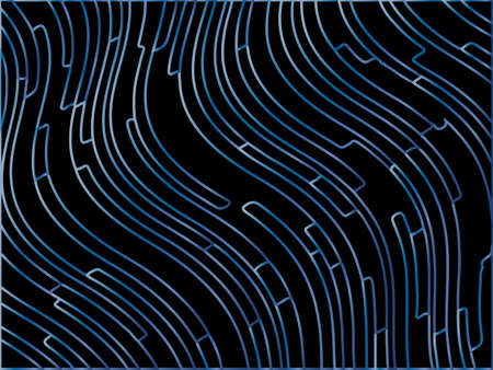 Dark Abstract pattern. Texture with gradient wavy, curves lines. Optical art background. Wave design, motion, dynamic style. Digital image with a psychedelic stripes. Vector illustration