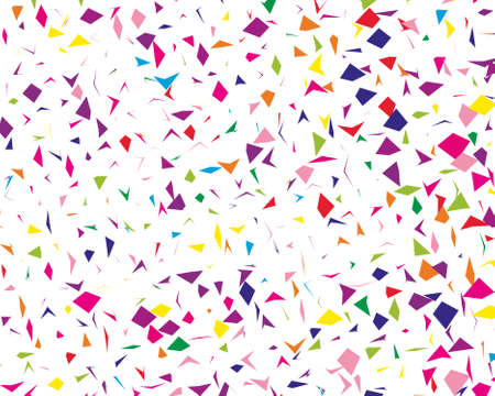 Festival pattern with colorful paper confetti. Bright  background, vector illustration Rectangular horizontal.