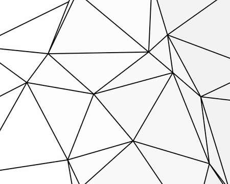 Struttura asimmetrica con linee caotiche casuali, motivo geometrico astratto. Illustrazione vettoriale in bianco e nero di elemento di design per la creazione di sfondi di arte moderna, modelli. Stile urbano grunge.