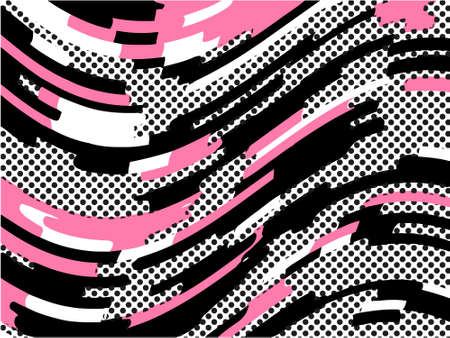 The Memphis pattern. Trending abstract design with irregular shapes, points and wavy lines to create trendy backgrounds for banners, websites, brochures. The minimalist style