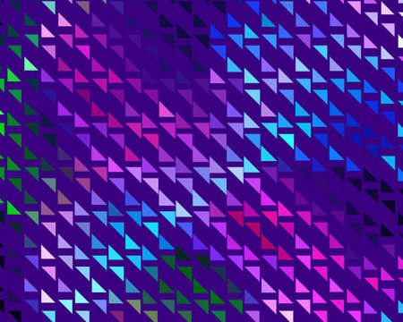 Bright dynamic background with triangles. Geometric shapes of different scale neon color. Vector illustration