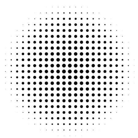 Comic background. Pop art style. Pattern with circles, halftone dotted backdrop. Radiating from the center starburst, sun burst dots. Design for web banners, Wallpaper, sites Vector illustration Vector Illustration