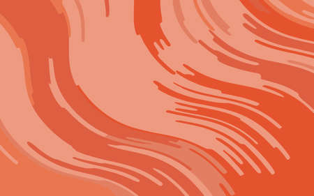 Abstract pattern with wave lines. Coral color striped background. Minimal design. Geometric wavy backdrop. Vector illustration Иллюстрация