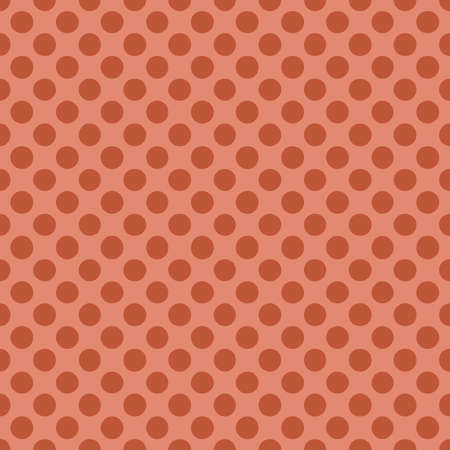 Seamless pattern with polka dot Trendy coral color Vector illustration.