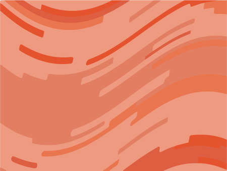 Abstract pattern with wave lines. Coral color striped background. Minimal design. Geometric wavy backdrop. Vector illustration Illustration