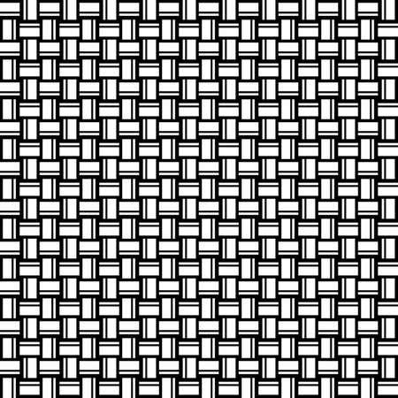 Geometric seamless pattern. Black and white color. Vector illustration. Standard-Bild - 116480508