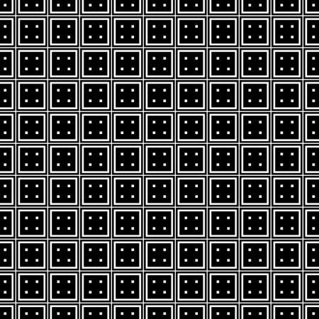 Geometric seamless pattern. Black and white color. Vector illustration.