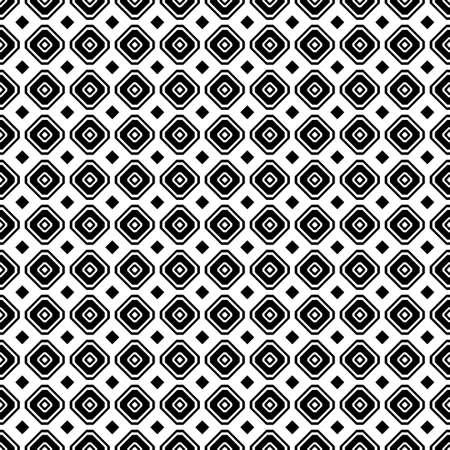 Geometric seamless pattern. Black and white color. Vector illustration. Standard-Bild - 116480517