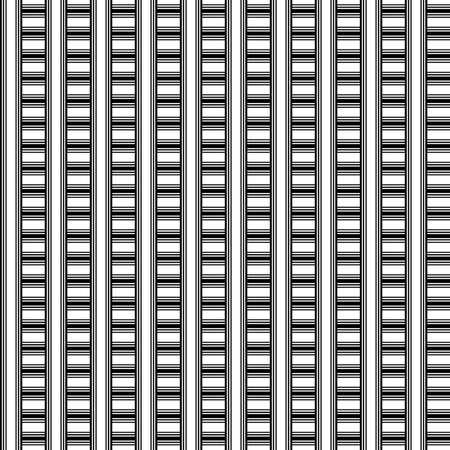 Geometric seamless pattern. Black and white color. Vector illustration. Standard-Bild - 116480521