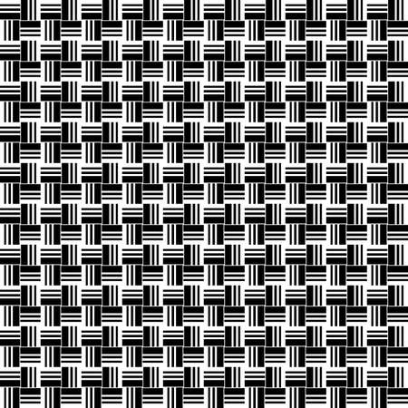 Geometric seamless pattern. Black and white color. Vector illustration. Standard-Bild - 116480529