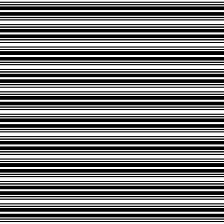 Horizontal stripes. Parallel straight monochrome pattern. Seamless vector illustration.