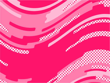 The Pink pattern. Trending abstract design with irregular shapes, points and wavy lines to create romantic Valentine's day themes, for banners, websites, brochures. The minimalist style.