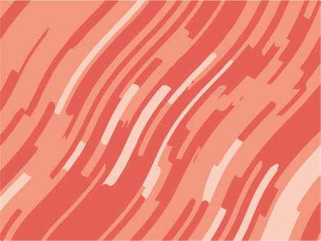 Abstract pattern with wave lines. Coral striped background. Minimal design. Geometric wavy backdrop. Vector illustration Çizim