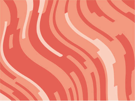 Abstract pattern with wave lines. Coral striped background. Minimal design. Geometric wavy backdrop. Vector illustration Иллюстрация