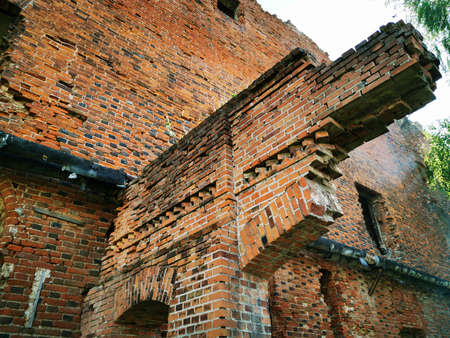 The ruins of the ancient Teutonic castle Ragnit in East Prussia, now the city of Neman Kaliningrad region